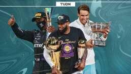 En un día se igualaron marcas de F1, NBA y Grand Slams