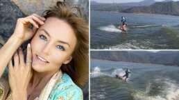 Angelique Boyer sufre incidente mientras esquiaba en el agua y comparte su aparatosa caída