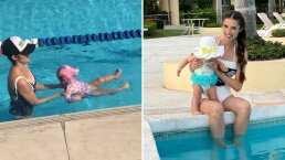 Marlene Favela le enseña a nadar a su hija Bella y muestra lo tierna que se ve
