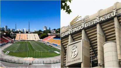 El Estadio Pacaembú en Brasil fue el primero en ofrecer sus instalaciones, posteriormente, el Real Madrid decidió unirse para apoyar aa la población española.