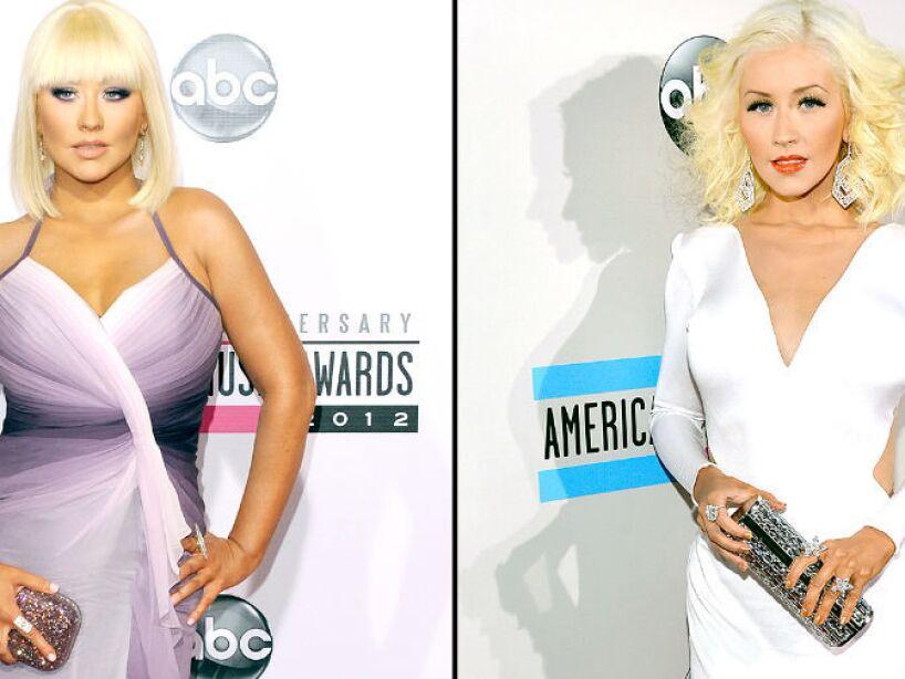 2. Christina Aguilera: La rubia se pasó de voluptuosa debido a sus embarazos pero volvió a ser sensual.