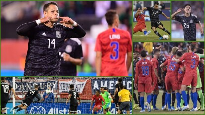 Con goles de Chicharito Hernández, Érick Gutiérrez y Uriel Antuna, México vence 3-0 al equipo de las barras y las estrellas; Orozco atajó un penal.