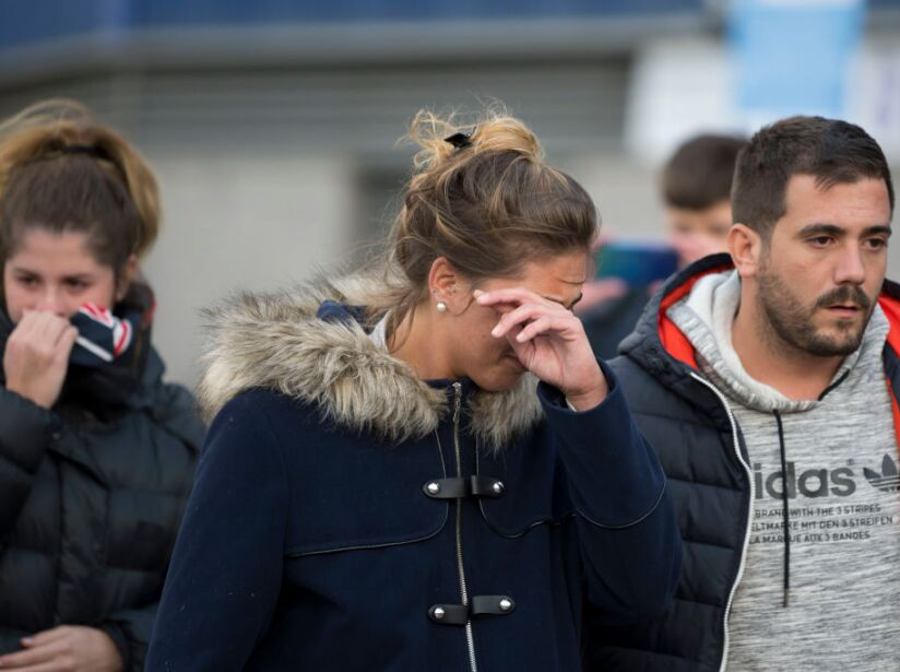 Sister Of Missing Footballer Lays Flowers At Cardiff City