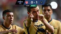 Pumas rescata triunfo de oro al superar 0-1 a Necaxa en la J-14