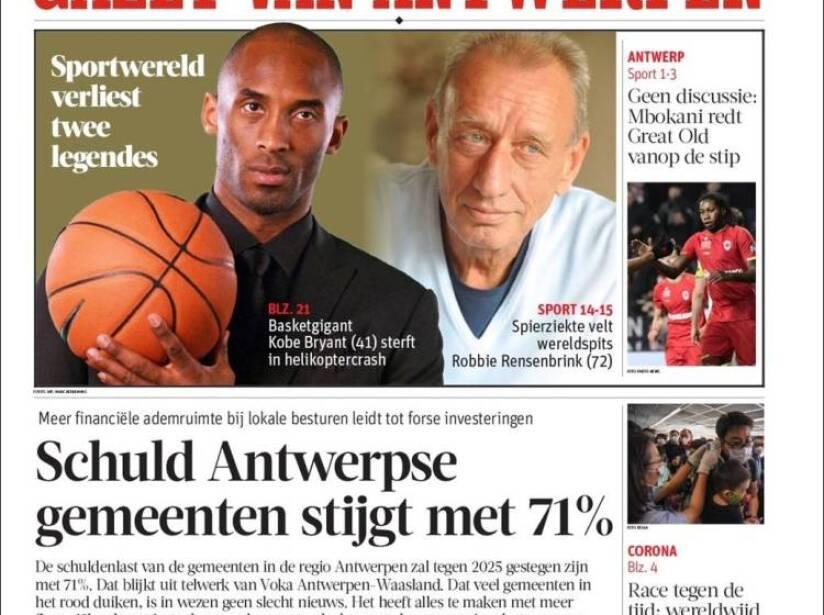 Kobe Bryant, periódico, STAD EN RAND.jpg