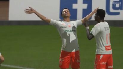 Maximiliano Olivera cayó 1-2 en casa ante Jairo González en el futbol virtual.