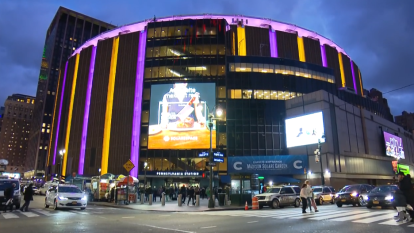 Así luce el Madison Square Garden, un pabellón deportivo multiusos situado en el distrito de Manhattan, en Nueva York.