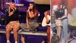 Selena Gomez sorprende al darle un beso en la boca a una mujer