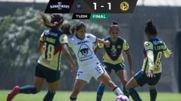 Resumen | Pumas empata 1-1 con América en un final agónico