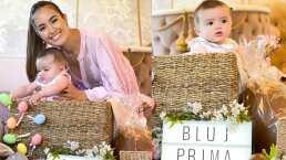 Sharon Fonseca compartió cómo decoraron su casa para las fotos de la primera Pascua de Blu