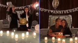 """""""Fueron nuestras meseritas"""": Andrea Legarreta y Erik Rubín se dejan consentir por sus hijas en su aniversario"""