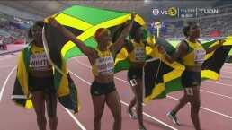 Espectacular: Jamaica es infalible y se consagra en 4x100 femenil