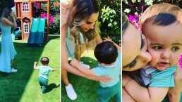 Odalys Ramírez y Patricio Borghetti celebran los primeros pasos de su hijo Rocco