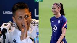 Alex Morgan reconoce al Chicharito en la MLS
