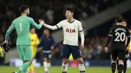 ¡Hay tiro! Jugadores del Tottenham a nada de pelearse