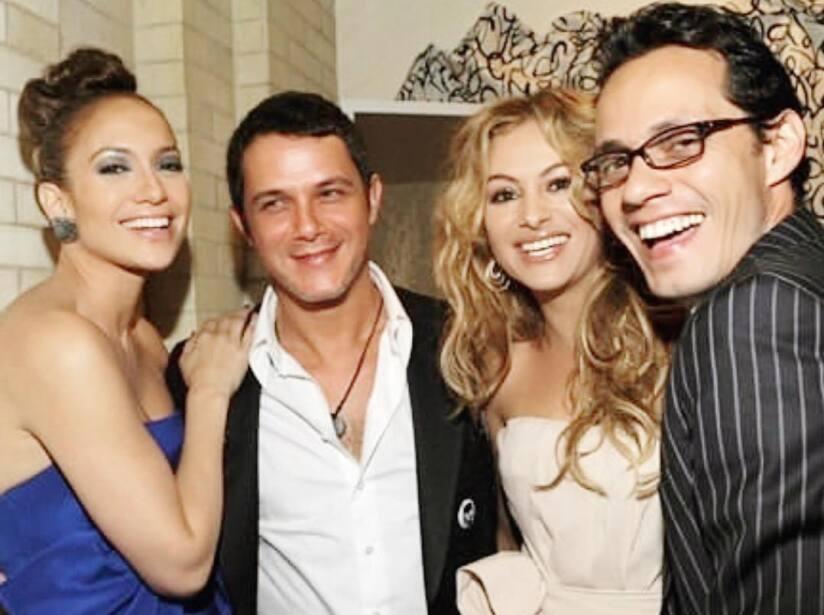 Así se veían Paulina Rubio, Alejandro Sanz, Marc Anthony y Jennifer Lopez