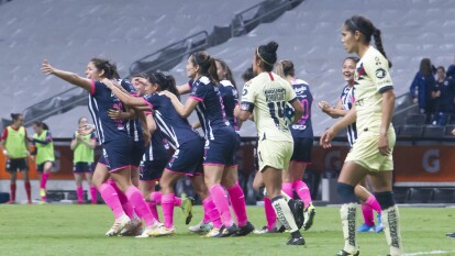Valeria Valdez y Mónica Monsivais marcaron en el tirunfo de las Rayadas para avanzar a la Final.