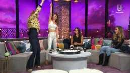Aunque Natalia se negaba, terminó bailando con todas las 'Netas Divinas' al ritmo de las últimas décadas