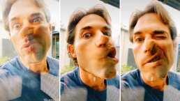 Sebastián Rulli ya no sabe qué hacer en esta cuarentena y se pone creativo haciendo música con su cara