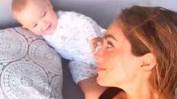 La adorable reacción de Emiliano al ver a Anahí en una fotografía