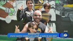 Andrea García cumple sueño de tres pequeñines
