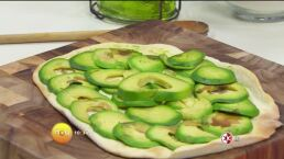 Receta: Pizza de aguacate