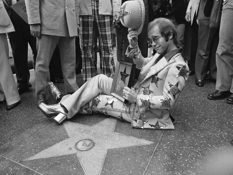 Elton John Walk of Fame 1975