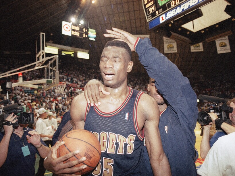 Watchf Associated Press Sports NBA Basketball Washington United States APHS56136 NUGGETS SONICS BASKETBALL