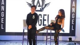 VIDEO: Gloria Trevi le da 'la patadita de la suerte' a su hijo Ángel Gabriel en su debut como cantante
