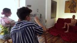 Así Somos: 'Los Jonas Vloggers' pintan su primer desnudo, ¡descubre cómo les fue!