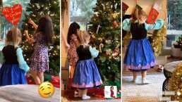 Aitana y Kailani decoraron el árbol de Navidad de Aislinn Derbez y Vadhir dice que quedó muy psicodélico