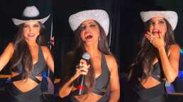 Ana Bárbara no se dio cuenta que su micrófono estaba prendido y sin querer se aventó un grito para todo su público