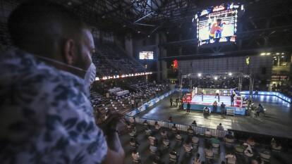 En Managua se llevó a cabo una noche de box sin importar la pandemia que existe a nivel mundial.