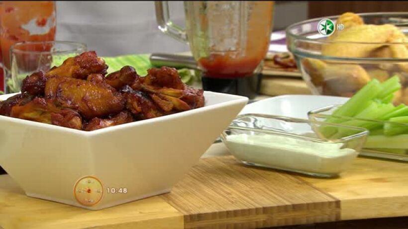 Para esta época mundialista, el chef Gibaja prepara unas ricas ´Alitas de Pollo BBQ con salsa de que