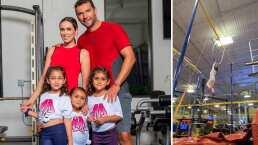 Hijas de Jacky Bracamontes muestran que no le tienen miedo a las alturas haciendo increíbles acrobacias