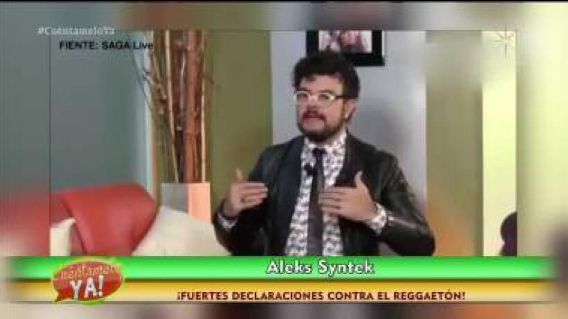 ¡Aleks Syntek y sus fuertes declaraciones contra el reggaetón!