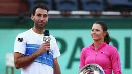 Los tres grandes del tenis firman yeso a hija de tenista mexicano