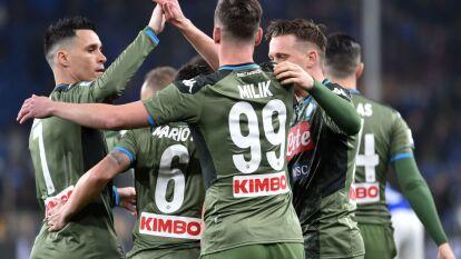 El mexicano, Hirving 'Chuky' Lozano' se quedó en la banca los 90 minutos en la visita del Napoli a la Sampdoria.