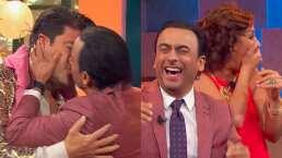 Beso de tres: El Burro Van Rankin besa a Consuelo Duval y Adal Ramones lo besa a él