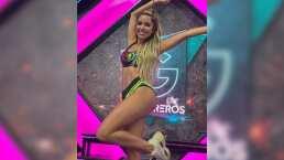 Andrea Escalona presume su atlética figura al portar el uniforme de 'Guerreros 2020'