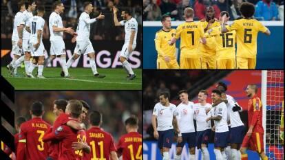 Clasificados al momento: Bélgica, Francia, Polonia, Italia, España, Rusia, Ucrania, Inglaterra, Turquía, Rep. Checa, Suecia, Finlandia, Holanda, Alemania, Austria y Croacia.