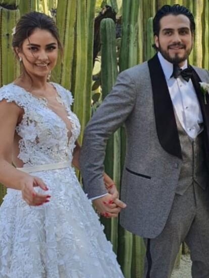 Tras celebrar su boda por el civil en enero pasado, Claudia Martín y Andrés Tovar tuvieron su enlace religioso el pasado 23 de noviembre en Oaxaca, estado donde nació la estrella de 'Amar a muerte'.