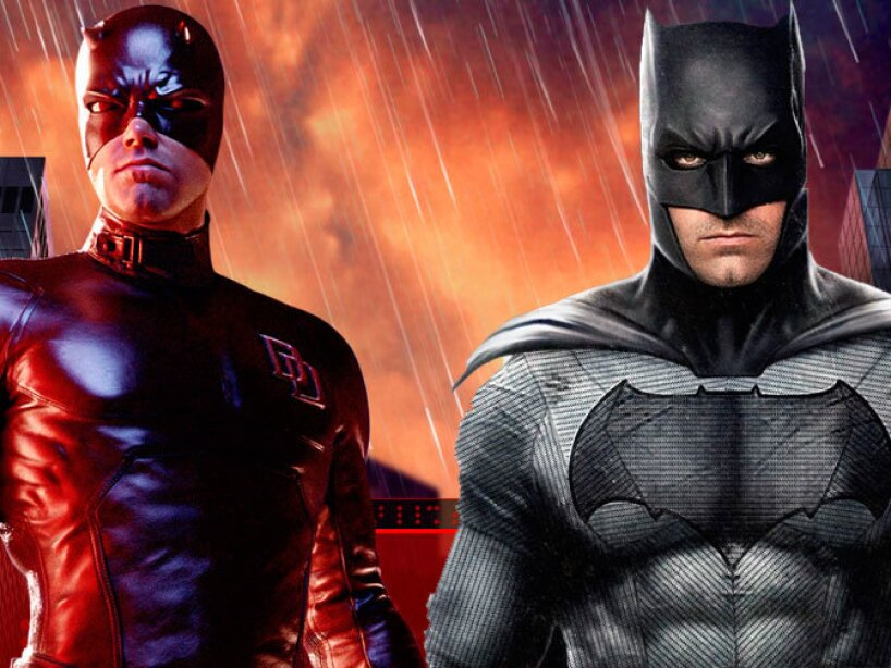Ben Affleck como Daredevil y Batman.