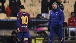 Mal y de malas, Messi sufre su primera expulsión con el Barça