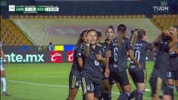 ¡Pase al arco y gol de Tigres! Jacqueline Ovalle marca el 1-0