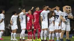 Pumas cantó himno universitario con equipo femenil