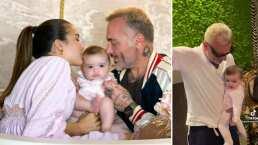 Gianluca Vacchi ya tiene pareja de baile y no es Sharon, sino su bebita Blu
