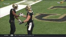 ¡Tercer pase de touchdown de Drew Brees!