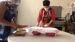 Violeta Isfel muestra cómo elabora sus hamburguesas tras ser atacada por no usar cubrebocas ni guantes