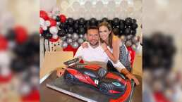 Jacky Bracamontes sorprendió a su esposo con una fiesta temática de carrera de autos